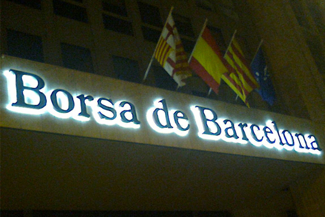 Tecneplas instala leds en el rótulo de la Borsa de Barcelona