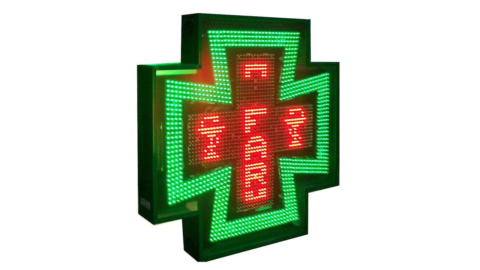 Cruces de farmacia de leds: Milenium