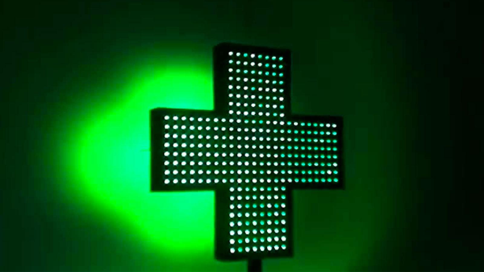 Cruces de farmacia a medida