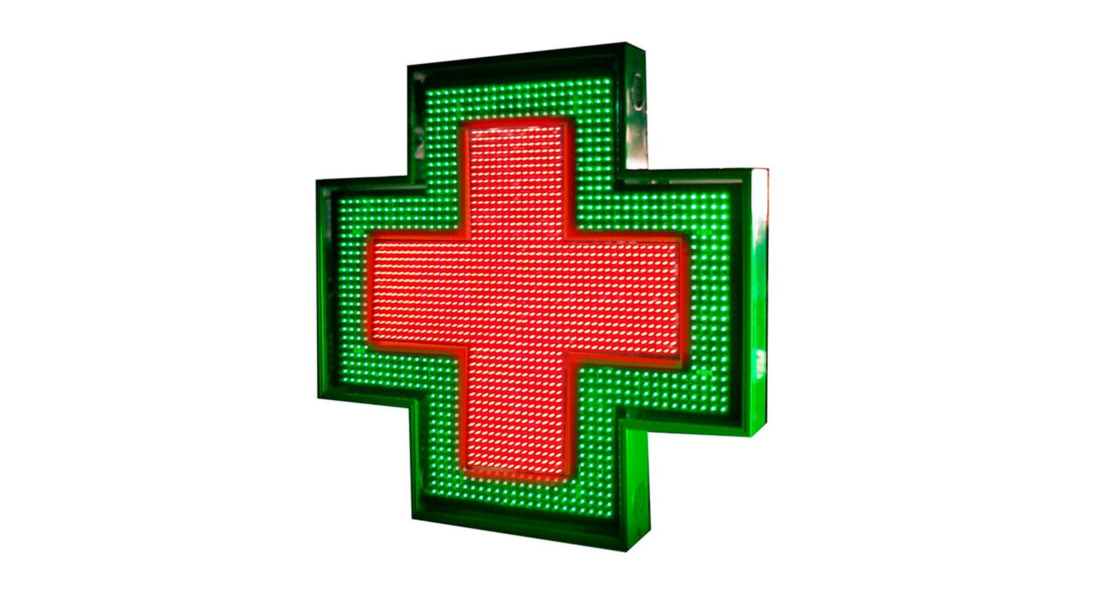 Cruces de farmacia de leds: Visión